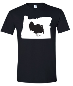 Short Sleeve T-Shirt Oregon Black Turkey Vibrant Design High Quality Tight Knit Ring Spun Low Maintenance Cotton Printed With The Newest Available Color Transfer Technology