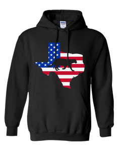 Pullover Hooded Sweatshirt Texas Black Mountain Lion Vibrant Design High Quality Tight Knit Ring Spun Low Maintenance Cotton Printed With The Newest Available Color Transfer Technology
