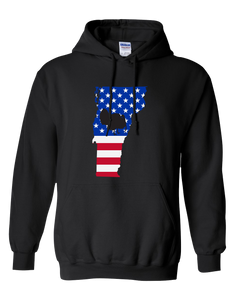Pullover Hooded Sweatshirt Vermont Black Turkey Vibrant Design High Quality Tight Knit Ring Spun Low Maintenance Cotton Printed With The Newest Available Color Transfer Technology