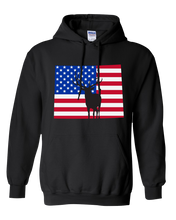 Load image into Gallery viewer, Pullover Hooded Sweatshirt Wyoming Black Elk Vibrant Design High Quality Tight Knit Ring Spun Low Maintenance Cotton Printed With The Newest Available Color Transfer Technology