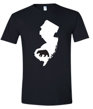 Load image into Gallery viewer, Short Sleeve T-Shirt New Jersey Black Black Bear Vibrant Design High Quality Tight Knit Ring Spun Low Maintenance Cotton Printed With The Newest Available Color Transfer Technology