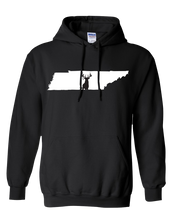 Load image into Gallery viewer, Pullover Hooded Sweatshirt Tennessee Black Whitetail Deer Vibrant Design High Quality Tight Knit Ring Spun Low Maintenance Cotton Printed With The Newest Available Color Transfer Technology