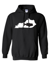 Load image into Gallery viewer, Pullover Hooded Sweatshirt Kentucky Black Large Mouth Bass Vibrant Design High Quality Tight Knit Ring Spun Low Maintenance Cotton Printed With The Newest Available Color Transfer Technology