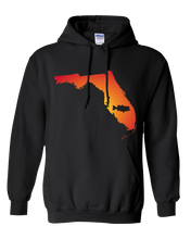 Load image into Gallery viewer, Pullover Hooded Sweatshirt Florida Black Large Mouth Bass Vibrant Design High Quality Tight Knit Ring Spun Low Maintenance Cotton Printed With The Newest Available Color Transfer Technology
