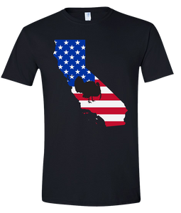Short Sleeve T-Shirt California Black Turkey Vibrant Design High Quality Tight Knit Ring Spun Low Maintenance Cotton Printed With The Newest Available Color Transfer Technology