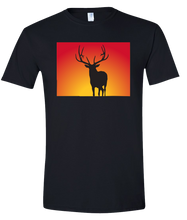 Load image into Gallery viewer, Short Sleeve T-Shirt Colorado Black Elk Vibrant Design High Quality Tight Knit Ring Spun Low Maintenance Cotton Printed With The Newest Available Color Transfer Technology