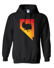 Load image into Gallery viewer, Pullover Hooded Sweatshirt Nevada Black Turkey Vibrant Design High Quality Tight Knit Ring Spun Low Maintenance Cotton Printed With The Newest Available Color Transfer Technology