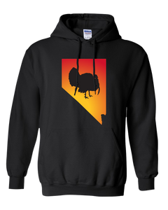 Pullover Hooded Sweatshirt Nevada Black Turkey Vibrant Design High Quality Tight Knit Ring Spun Low Maintenance Cotton Printed With The Newest Available Color Transfer Technology
