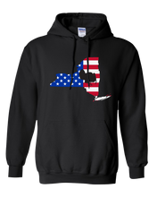 Load image into Gallery viewer, Pullover Hooded Sweatshirt New York Black Turkey Vibrant Design High Quality Tight Knit Ring Spun Low Maintenance Cotton Printed With The Newest Available Color Transfer Technology