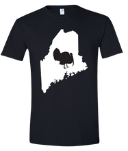 Load image into Gallery viewer, Short Sleeve T-Shirt Maine Black Turkey Vibrant Design High Quality Tight Knit Ring Spun Low Maintenance Cotton Printed With The Newest Available Color Transfer Technology