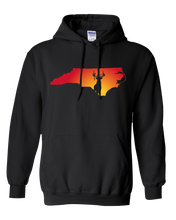 Load image into Gallery viewer, Pullover Hooded Sweatshirt North Carolina Black Whitetail Deer Vibrant Design High Quality Tight Knit Ring Spun Low Maintenance Cotton Printed With The Newest Available Color Transfer Technology