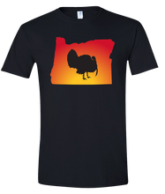 Load image into Gallery viewer, Short Sleeve T-Shirt Oregon Black Turkey Vibrant Design High Quality Tight Knit Ring Spun Low Maintenance Cotton Printed With The Newest Available Color Transfer Technology