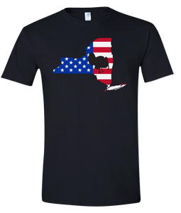 Short Sleeve T-Shirt New York Black Turkey Vibrant Design High Quality Tight Knit Ring Spun Low Maintenance Cotton Printed With The Newest Available Color Transfer Technology