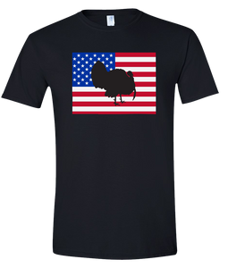 Short Sleeve T-Shirt Colorado Black Turkey Vibrant Design High Quality Tight Knit Ring Spun Low Maintenance Cotton Printed With The Newest Available Color Transfer Technology