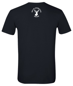 Short Sleeve T-Shirt Georgia Black Whitetail Deer Vibrant Design High Quality Tight Knit Ring Spun Low Maintenance Cotton Printed With The Newest Available Color Transfer Technology