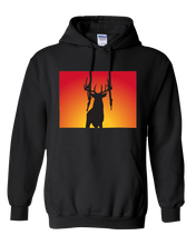 Load image into Gallery viewer, Pullover Hooded Sweatshirt Colorado Black Whitetail Deer Vibrant Design High Quality Tight Knit Ring Spun Low Maintenance Cotton Printed With The Newest Available Color Transfer Technology