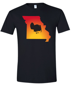 Short Sleeve T-Shirt Missouri Black Turkey Vibrant Design High Quality Tight Knit Ring Spun Low Maintenance Cotton Printed With The Newest Available Color Transfer Technology