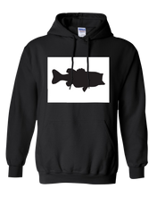 Load image into Gallery viewer, Pullover Hooded Sweatshirt Colorado Black Large Mouth Bass Vibrant Design High Quality Tight Knit Ring Spun Low Maintenance Cotton Printed With The Newest Available Color Transfer Technology
