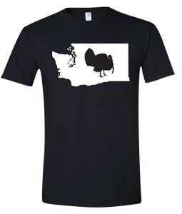 Short Sleeve T-Shirt Washington Black Turkey Vibrant Design High Quality Tight Knit Ring Spun Low Maintenance Cotton Printed With The Newest Available Color Transfer Technology