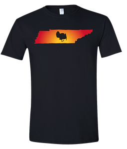 Short Sleeve T-Shirt Tennessee Black Turkey Vibrant Design High Quality Tight Knit Ring Spun Low Maintenance Cotton Printed With The Newest Available Color Transfer Technology
