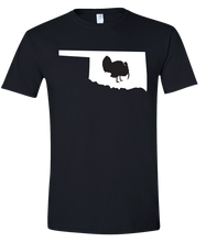 Load image into Gallery viewer, Short Sleeve T-Shirt Oklahoma Black Turkey Vibrant Design High Quality Tight Knit Ring Spun Low Maintenance Cotton Printed With The Newest Available Color Transfer Technology