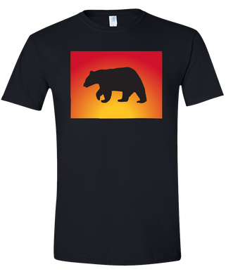 Short Sleeve T-Shirt Colorado Black Black Bear Vibrant Design High Quality Tight Knit Ring Spun Low Maintenance Cotton Printed With The Newest Available Color Transfer Technology