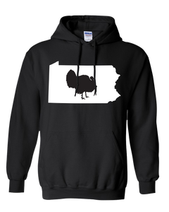 Pullover Hooded Sweatshirt Pennsylvania Black Turkey Vibrant Design High Quality Tight Knit Ring Spun Low Maintenance Cotton Printed With The Newest Available Color Transfer Technology