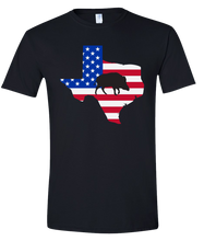 Load image into Gallery viewer, Short Sleeve T-Shirt Texas Black Wild Hog Vibrant Design High Quality Tight Knit Ring Spun Low Maintenance Cotton Printed With The Newest Available Color Transfer Technology