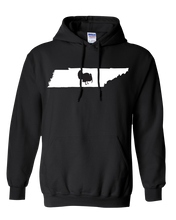 Load image into Gallery viewer, Pullover Hooded Sweatshirt Tennessee Black Turkey Vibrant Design High Quality Tight Knit Ring Spun Low Maintenance Cotton Printed With The Newest Available Color Transfer Technology