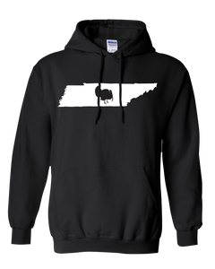Pullover Hooded Sweatshirt Tennessee Black Turkey Vibrant Design High Quality Tight Knit Ring Spun Low Maintenance Cotton Printed With The Newest Available Color Transfer Technology