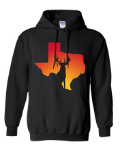 Load image into Gallery viewer, Pullover Hooded Sweatshirt Texas Black Whitetail Deer Vibrant Design High Quality Tight Knit Ring Spun Low Maintenance Cotton Printed With The Newest Available Color Transfer Technology