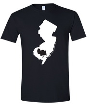 Load image into Gallery viewer, Short Sleeve T-Shirt New Jersey Black Turkey Vibrant Design High Quality Tight Knit Ring Spun Low Maintenance Cotton Printed With The Newest Available Color Transfer Technology