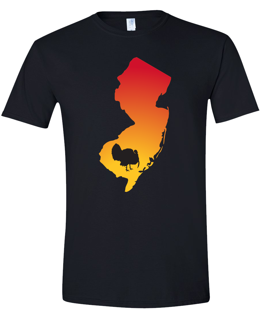 Short Sleeve T-Shirt New Jersey Black Turkey Vibrant Design High Quality Tight Knit Ring Spun Low Maintenance Cotton Printed With The Newest Available Color Transfer Technology
