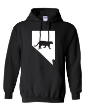 Load image into Gallery viewer, Pullover Hooded Sweatshirt Nevada Black Mountain Lion Vibrant Design High Quality Tight Knit Ring Spun Low Maintenance Cotton Printed With The Newest Available Color Transfer Technology
