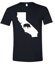 Load image into Gallery viewer, Short Sleeve T-Shirt California Black Wild Hog Vibrant Design High Quality Tight Knit Ring Spun Low Maintenance Cotton Printed With The Newest Available Color Transfer Technology