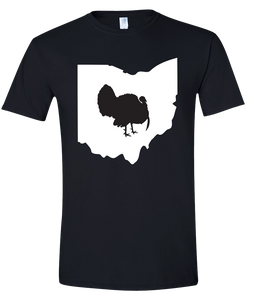 Short Sleeve T-Shirt Ohio Black Turkey Vibrant Design High Quality Tight Knit Ring Spun Low Maintenance Cotton Printed With The Newest Available Color Transfer Technology