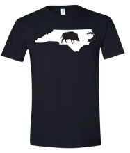 Load image into Gallery viewer, Short Sleeve T-Shirt North Carolina Black Wild Hog Vibrant Design High Quality Tight Knit Ring Spun Low Maintenance Cotton Printed With The Newest Available Color Transfer Technology