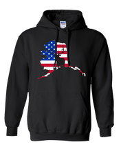 Load image into Gallery viewer, Pullover Hooded Sweatshirt Alaska Black Elk Vibrant Design High Quality Tight Knit Ring Spun Low Maintenance Cotton Printed With The Newest Available Color Transfer Technology