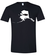 Load image into Gallery viewer, Short Sleeve T-Shirt Alaska Black Large Mouth Bass Vibrant Design High Quality Tight Knit Ring Spun Low Maintenance Cotton Printed With The Newest Available Color Transfer Technology
