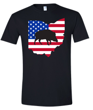 Load image into Gallery viewer, Short Sleeve T-Shirt Ohio Black Wild Hog Vibrant Design High Quality Tight Knit Ring Spun Low Maintenance Cotton Printed With The Newest Available Color Transfer Technology