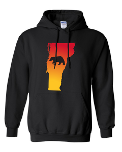 Pullover Hooded Sweatshirt Vermont Black Black Bear Vibrant Design High Quality Tight Knit Ring Spun Low Maintenance Cotton Printed With The Newest Available Color Transfer Technology