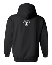 Load image into Gallery viewer, Pullover Hooded Sweatshirt Alaska Black Moose Vibrant Design High Quality Tight Knit Ring Spun Low Maintenance Cotton Printed With The Newest Available Color Transfer Technology