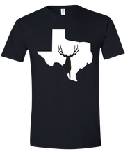 Load image into Gallery viewer, Short Sleeve T-Shirt Texas Black Mule Deer Vibrant Design High Quality Tight Knit Ring Spun Low Maintenance Cotton Printed With The Newest Available Color Transfer Technology