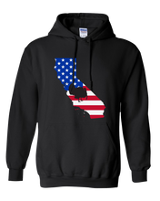 Load image into Gallery viewer, Pullover Hooded Sweatshirt California Black Turkey Vibrant Design High Quality Tight Knit Ring Spun Low Maintenance Cotton Printed With The Newest Available Color Transfer Technology