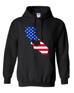 Pullover Hooded Sweatshirt California Black Turkey Vibrant Design High Quality Tight Knit Ring Spun Low Maintenance Cotton Printed With The Newest Available Color Transfer Technology