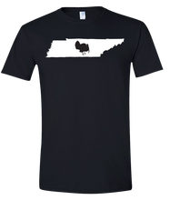Load image into Gallery viewer, Short Sleeve T-Shirt Tennessee Black Turkey Vibrant Design High Quality Tight Knit Ring Spun Low Maintenance Cotton Printed With The Newest Available Color Transfer Technology
