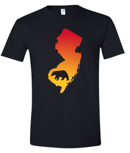 Short Sleeve T-Shirt New Jersey Black Black Bear Vibrant Design High Quality Tight Knit Ring Spun Low Maintenance Cotton Printed With The Newest Available Color Transfer Technology