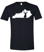 Load image into Gallery viewer, Short Sleeve T-Shirt Kentucky Black Whitetail Deer Vibrant Design High Quality Tight Knit Ring Spun Low Maintenance Cotton Printed With The Newest Available Color Transfer Technology