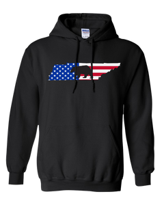 Pullover Hooded Sweatshirt Tennessee Black Black Bear Vibrant Design High Quality Tight Knit Ring Spun Low Maintenance Cotton Printed With The Newest Available Color Transfer Technology