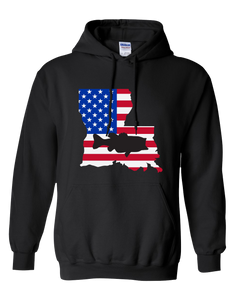 Pullover Hooded Sweatshirt Louisiana Black Large Mouth Bass Vibrant Design High Quality Tight Knit Ring Spun Low Maintenance Cotton Printed With The Newest Available Color Transfer Technology